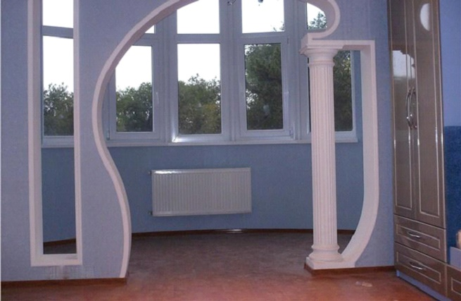 фото фигурные арки из гипсокартона