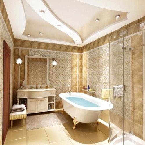 Гипсокартон влагостойкий в ванную на потолок