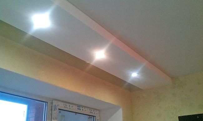 Как сделать потолок с гипсокартона с подсветкой фото