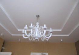 Люстра на потолке из гипсокартона