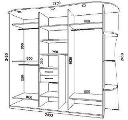 Чертеж шкафа