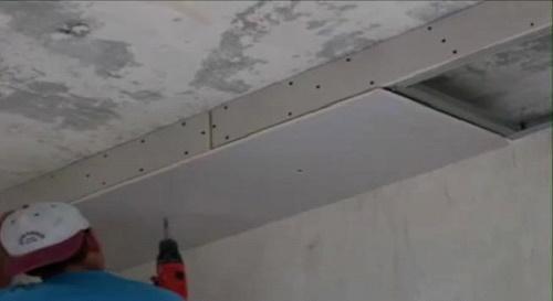 Крепление листов гипсокартона к готовому каркасу