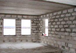 Газобетонный дом из нутри