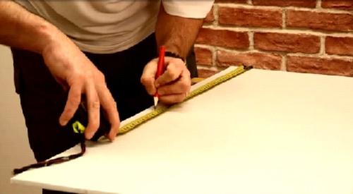 Разметка карандашом и рулеткой