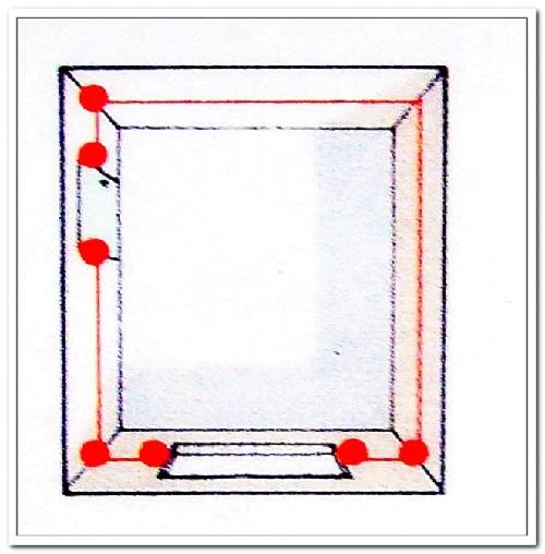 Модель помещения с точками для замера