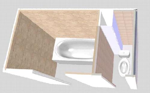 Модель туалета с коробом