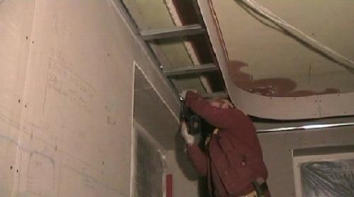 Крепление каркаса для потолка