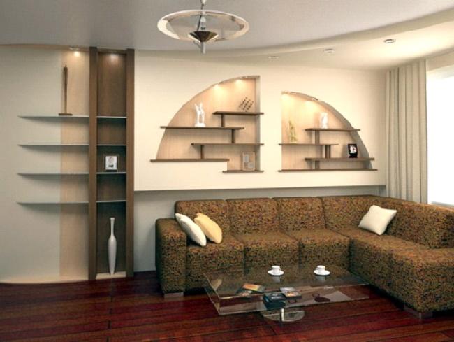 Дизайн из гипсокартона стены
