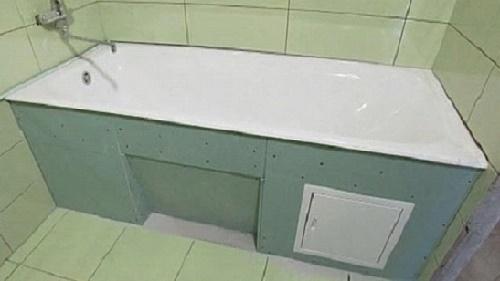Ванная обшитая гипсокартоном