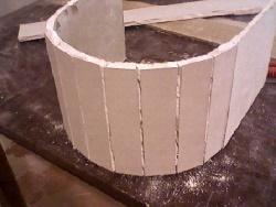 Порезанный гипсокартонный лист