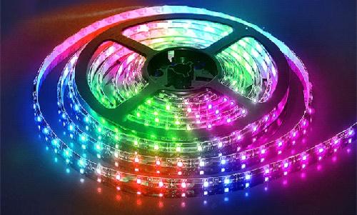 Лента с разноцветными лампочками