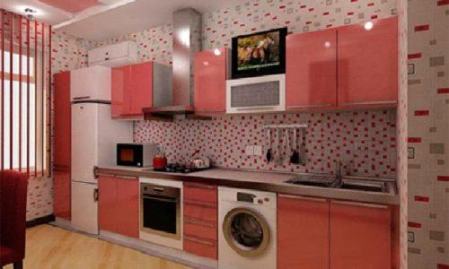 Кухня с навесными шкафчиками