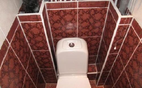 Туалет с двойным коробом