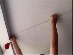 Отбиваем разметку шнурком