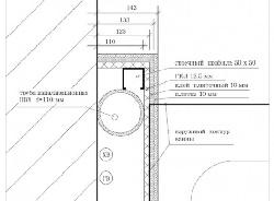 Чертеж конструкции в туалете