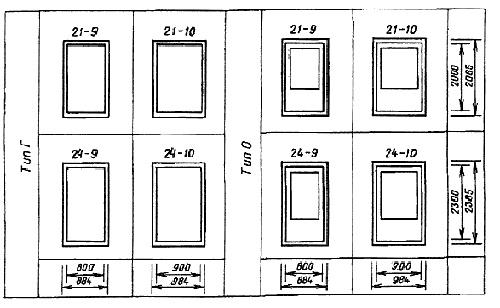 Двери разных размеров