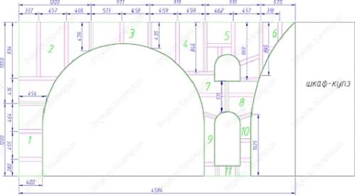 Модель арочной конструкции