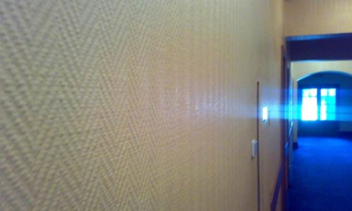 Стеклообои на стене
