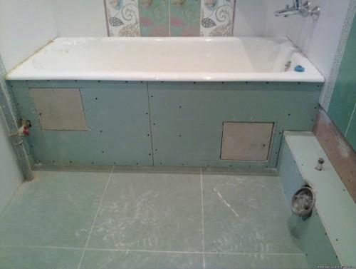 Короб под ванной