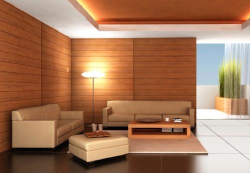 Вариант современного ремонта в комнате
