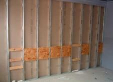 Каркас с деревянными распорками