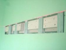 Стена с отверстиями
