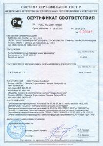 Сертификация гипсокартона