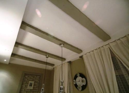 Расположение балок на потолке