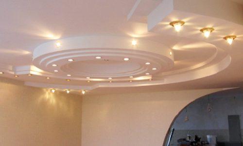 Красивый потолок в комнате