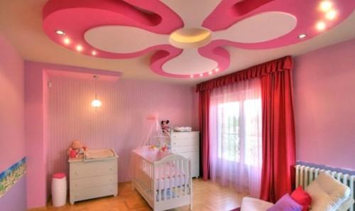 Фигурные потолки в комнате