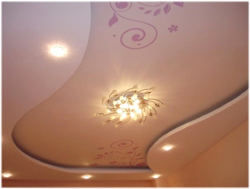Фигурный вариант потолка