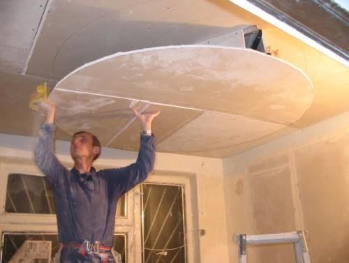 Обшивка потолка листами
