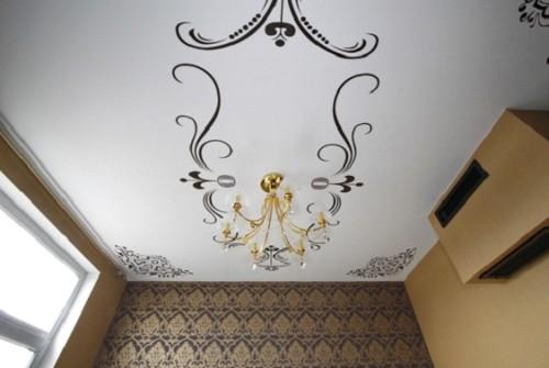 Роспись на потолке в комнате
