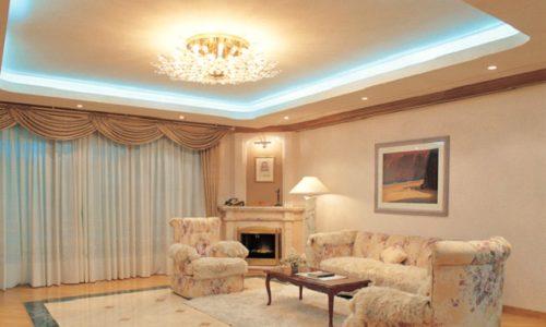 Комната с двухуровневым потолком