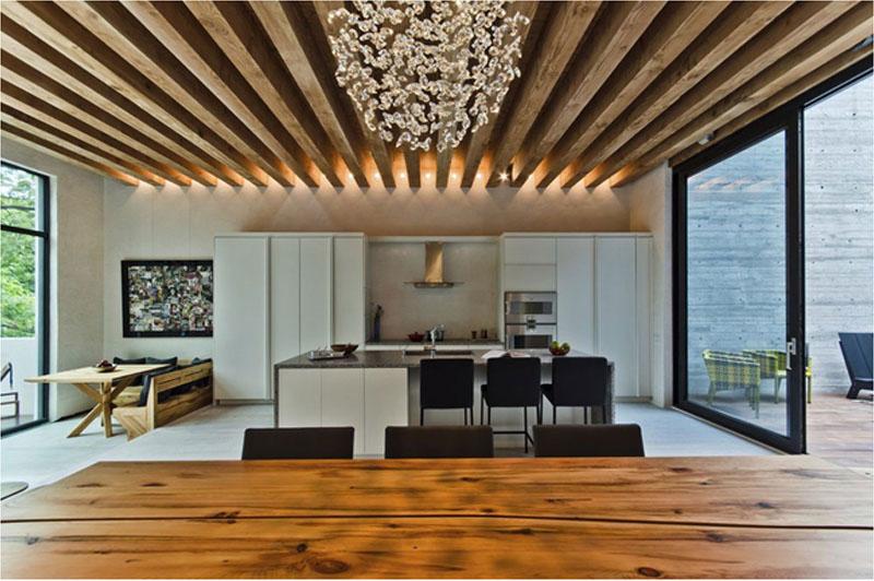 Подсветка потолочных балок