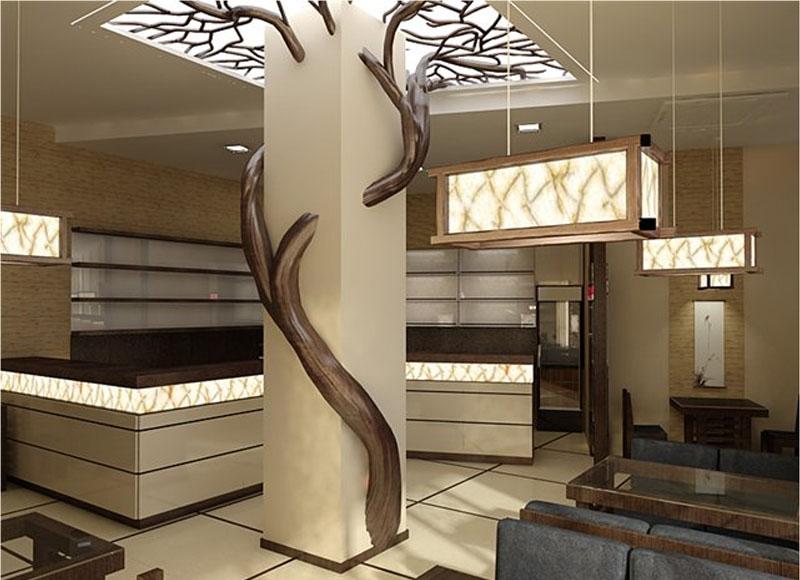 Дизайн комнаты с переходной отделкой